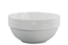 Bastion Collections Salad Bowl small white Heart