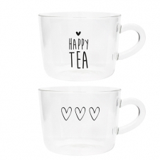 Bastion Collections Teetasse Glas black